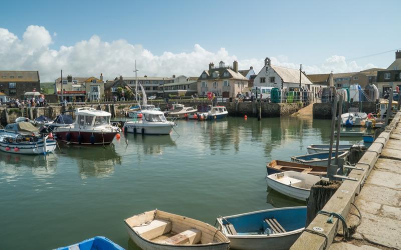 The inner Harbour at  West Bay