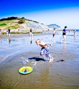 Charmouth Beach for Families