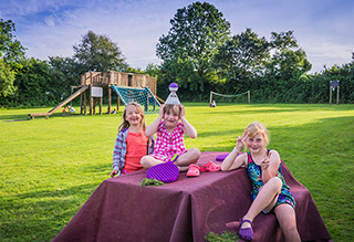 Happy Children Camping