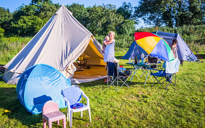 Monkton Wyld Summer Camping Field Going Back to Basics