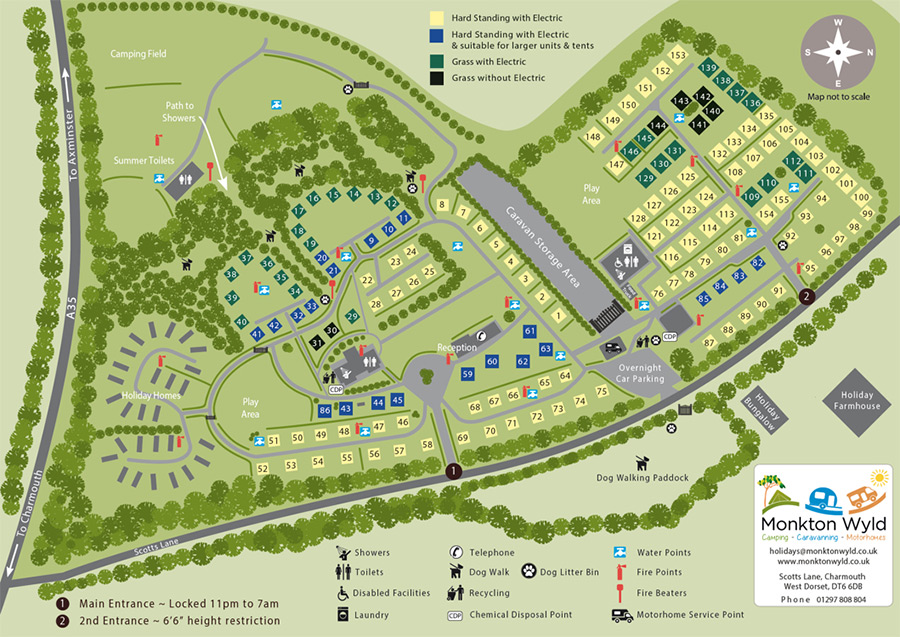 Monkton Wyld Holiday Park Site Plan